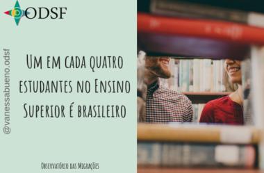 [info PT] Um em cada quatro estudantes no Ensino Superior é brasileiro