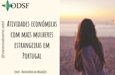 [info PT] Atividades económicas com mais mulheres estrangeiras em Portugal