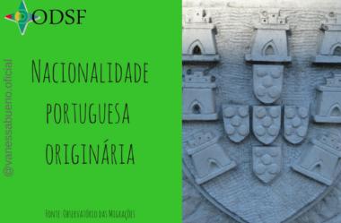 [info PT] Nacionalidade portuguesa originária