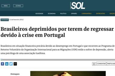 [opinião] Brasileiros deprimidos por terem de regressar devido à crise em Portugal